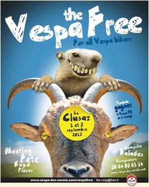 <Vespa Free event flier for La Clusaz, France>