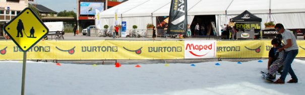<Picture of snow in Annecy in September, sponsored by Burton snowboards>