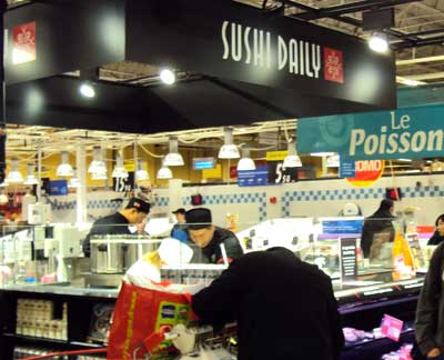 <Photo of the new sushi bar in Carrefour Annecy, Haute Savoie>
