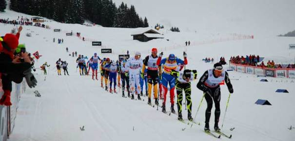 <Photo of the FIS Cross-country (Ski du Fond) World Cup in the Les Confins area of La Clusaz, France>