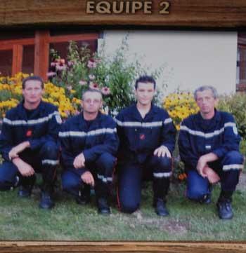<Blurry pompiers on St Jean de Sixt calendar>