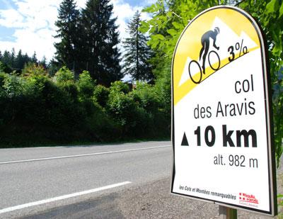 Route to La Clusaz from St Jean de Sixt