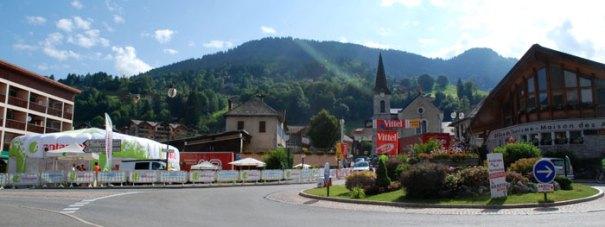 Saint Jean de Sixt during the 2013 Tour de France