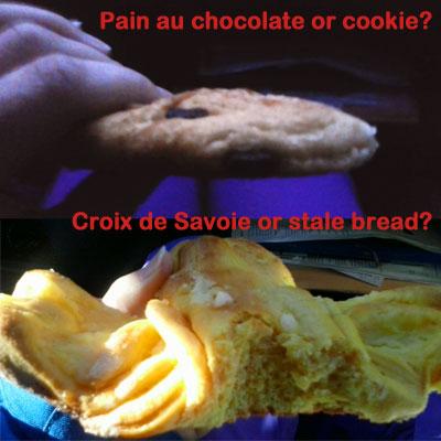 <Examples of dodgy French artisan bakery treats>