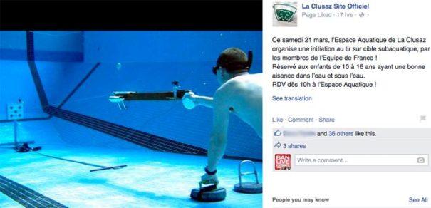 Underwater shooting in La Clusaz - Le Francophoney blog