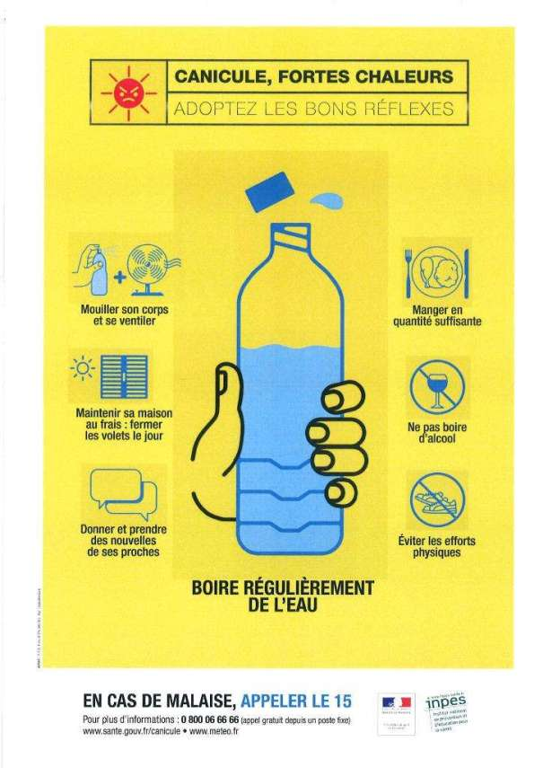 Heatwave brochure in France 2015