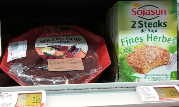 Vegetarian food in French supermarket