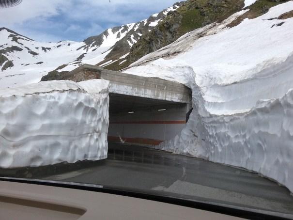 Col du Grand Saint Bernard in heavy snow June 2018