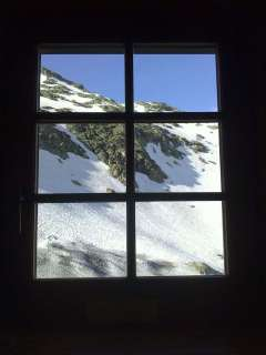 View from the hospice at the Col de Grand Saint Bernard