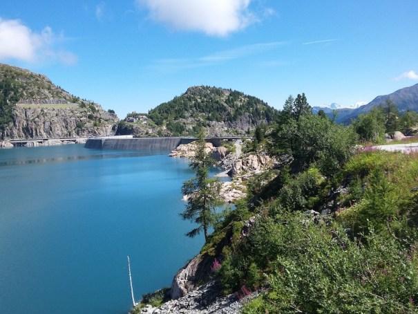 Emosson dam views