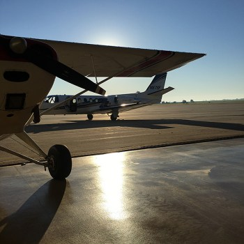 Getting out of a Champ and into a Cessna Citaion