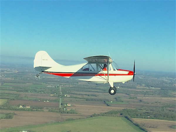 Champion 7EC in flight