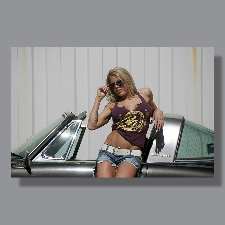 Image: Model with Sports Car