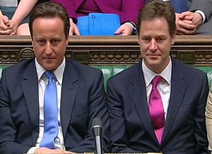 David-Cameron-Nick-Clegg-front-bench