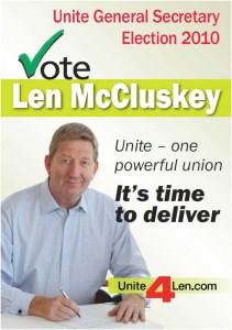 len mccluskey poster