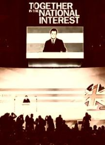 """""""We're in this together"""" - George Osborne speaking at Tory Party conference - a still from Captain Ska video """"Liar Liar""""."""
