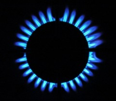 Blue flames of a gas stove by Marina Burity from Santo André, Brazil, licensed under the Creative Commons Attribution-Share Alike 2.0 Generic license, file at http://commons.wikimedia.org/wiki/File:Gas_stove_blue_flames.jpg