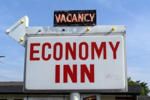 Vacancy at the Economy Inn by SeeMidTN.com (aka Brent), licensed under Creative Commons Attribution 2.0 Generic, file at http://www.flickr.com/photos/brent_nashville/166218527/sizes/m/in/photostream/