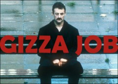 """Yosser Hughes from 'Boys from the Blackstuff' with the headling """"gizza job"""""""