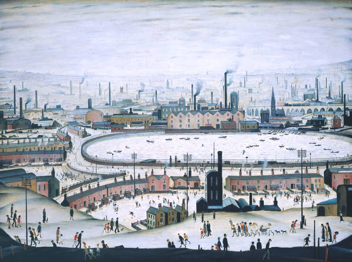The Pond, 1950, by L.S. Lowry