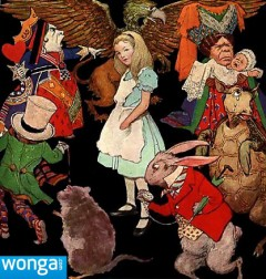 Alice in Wongaland, based on an illustration by Jessie Wilcox Smith (copyright expired)