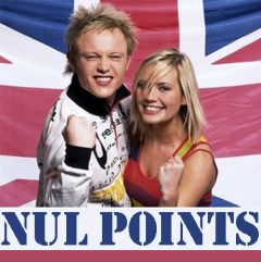 UK duo Jemini received no votes in the 2003 Eurovisiion song contest