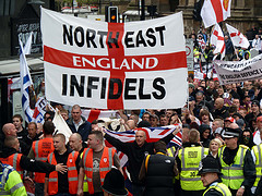 English Defence League march in Newcastle