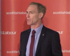 Jim Murphy accepting the Scottish leadership