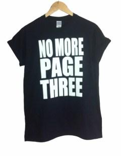 No more page 3 T-shirt