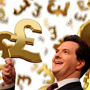 Osborne in a money shower