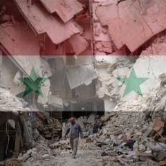 Syrian bombsite