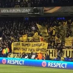 Dortmund banner at White Hart Lane this week