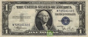 Image result for dollar silver certificate