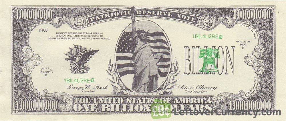 One Million Dollar Bill Usa Novelty Banknotes Leftover