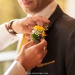 Boutonnière du marié : mariage tradition