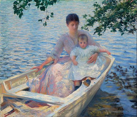 559px-Edmund_Charles_Tarbell_-_Mother_and_Child_in_a_Boat_-_Google_Art_Project