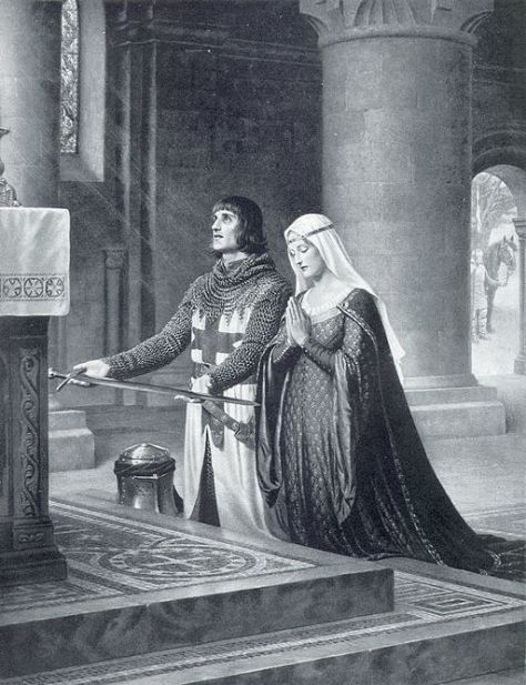 Edmund_Blair_Leighton_-_The_Dedication