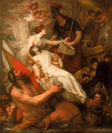 """Benjamin West (1738–1820): """"The Immortality of Nelson."""""""