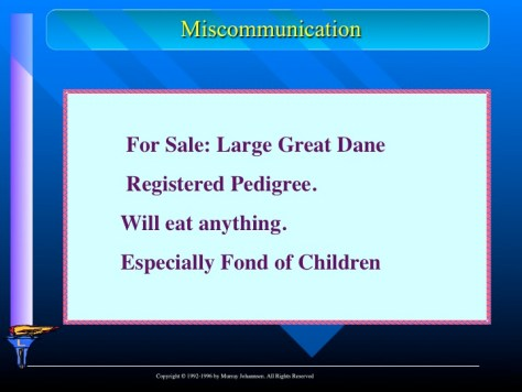 miscommunication between loved ones interpersonal communication Many issues among family members arise because of miscommunication   when a family communicates well, everyone understands what loved ones need,  making  often disagree about how they should deal with their personal  problems.
