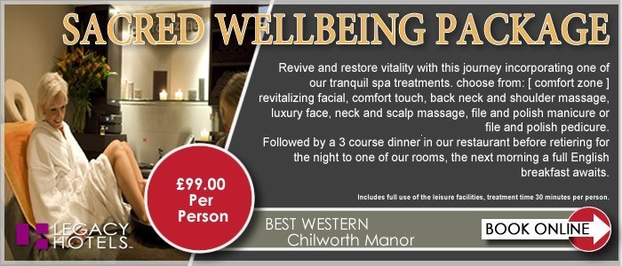 BEST WESTERN CHILWORTH MANOR HOTEL Southampton Sacred DBB