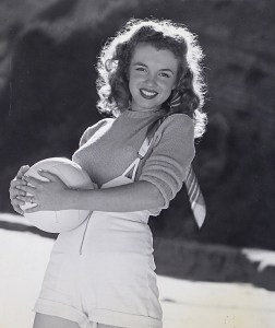 Andre de Dienes - Marilyn Monroe With Volley Ball, c 1950