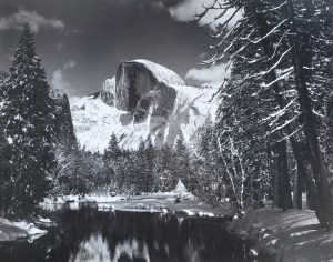 Ansel Adams - Half Dome, Merced River, Winter, 1938