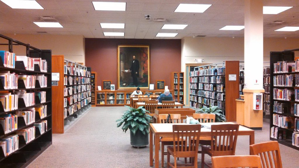 The Tompkins County Public Library Reading Area