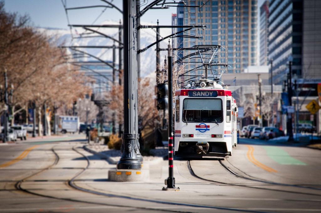 UTA_TRAX_-_From_SLC_to_Sandy_on_South_Temple_street_-_February_2011