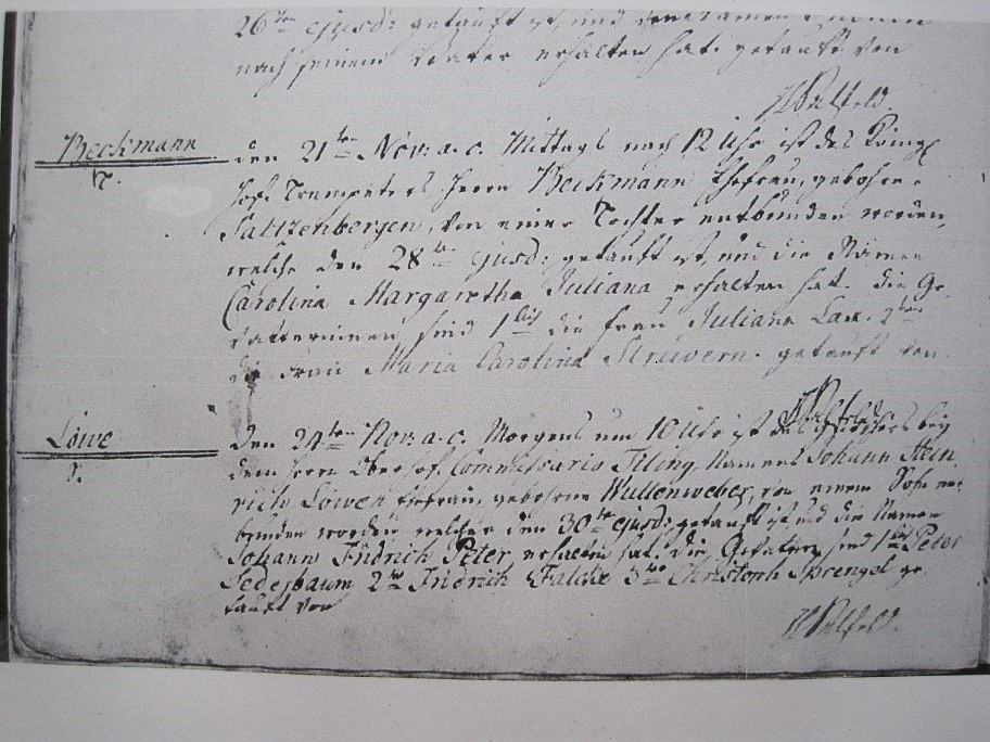 finding German immigrant ancestors at the Church Registry Office in Hanover