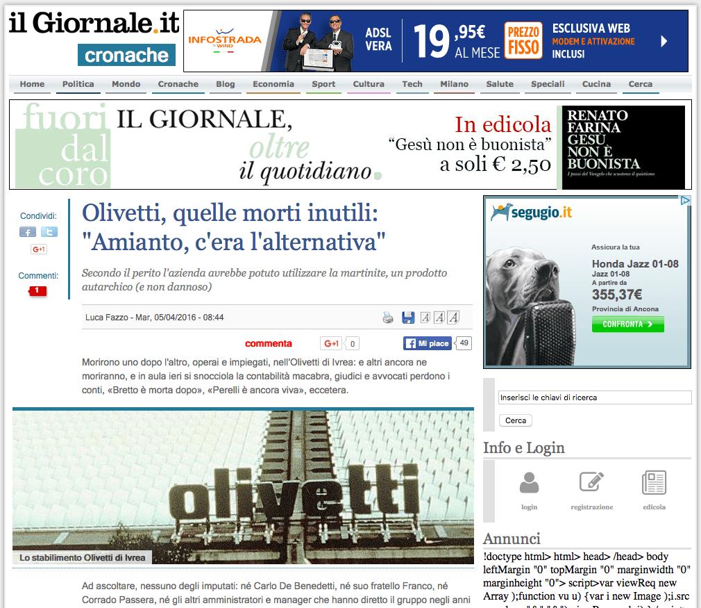 Amianto Olivetti