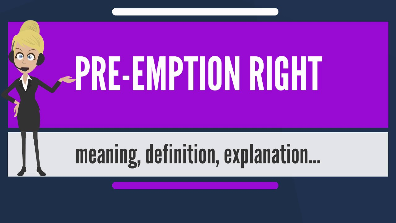 pre-emption (shuffa) under muslim law - concept, rights and effect