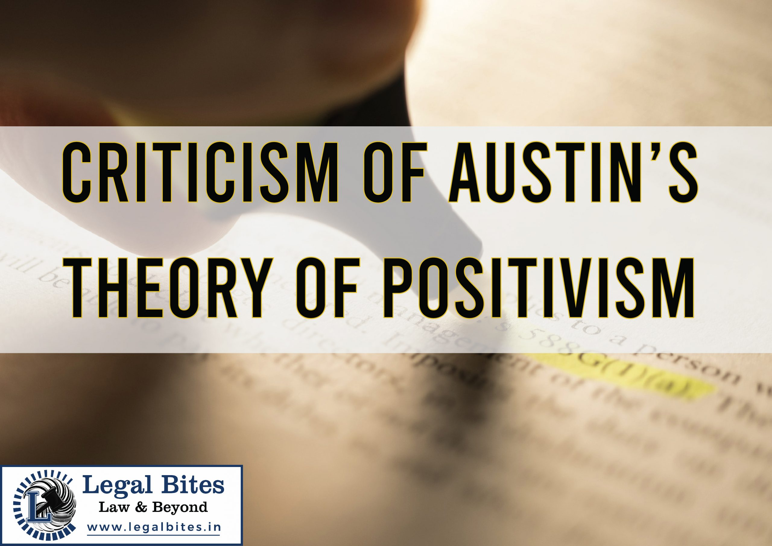 Criticism of Austin's Theory of Positivism