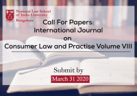 Call For Papers International Journal On Consumer Law and Practise Volume VIII