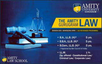 Amity Law School Gurugram Admissions 2020